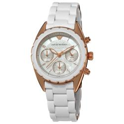 Emporio Armani 'Sport' AR5943 Woman's Mother of Pearl Dial Watch