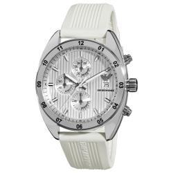 Emporio Armani 'Sport' AR5929 Men's White Silicone Chronograph Watch