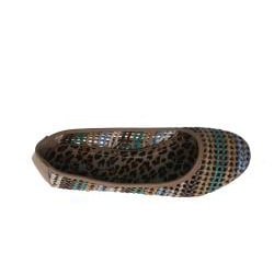 Elegant by Beston Women's 'Zinnia-3' Camel Woven Flats