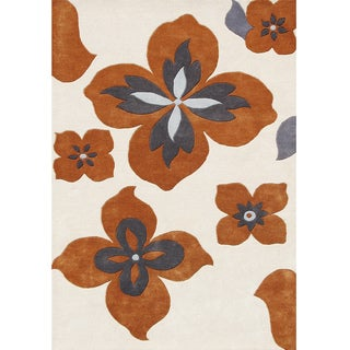 Alliyah Handmade Lambs Wool New Zealand Blend Rug (8' x 10')