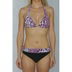 Island Love Women's Pink Animal Print Bikini