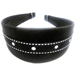 Black and White Dot Headband