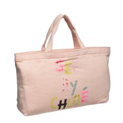 See by Chloe 9S7162 N173 533 Peach Mini Canvas Tote Bag