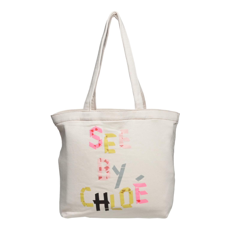 See by Chloe 9S7160 N173 525 Cream Canvas Tote Bag