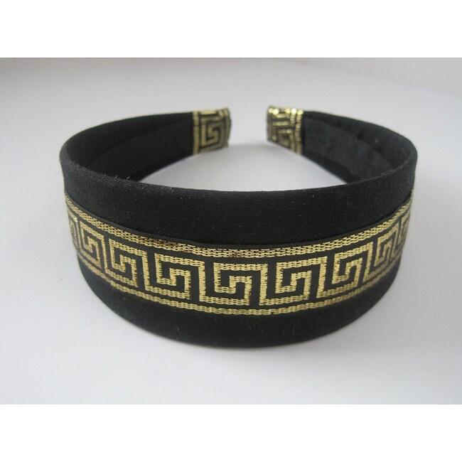 Crawford Corner Shop Black and Gold Headband