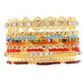 NEXTE Jewelry Gold Overlay Colored Bead Stackable 10-piece Bracelet Set