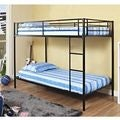 Twin/Twin Black Metal Bunk Bed
