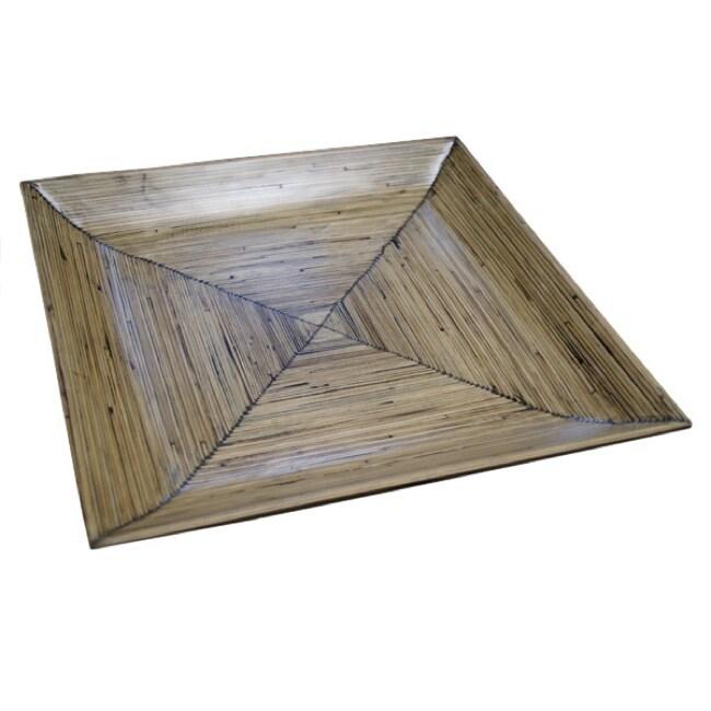 Natural Bamboo Square Platter