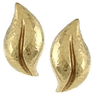 Tiffany 18k Yellow Gold Paloma Picasso Leaf Earrings