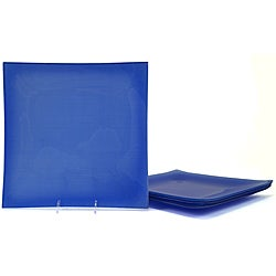Blue Tempered Glass Dinner Plate/Charger Set