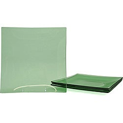 Jewel Green Tempered Glass Dinner Plate/Charger Set
