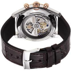 Zenith Men's 'Chronomaster XXT Open' Silver Dial Brown Strap Watch