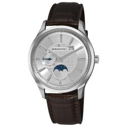 Zenith Men's 03.2140.691/02.C498 'CaptainElite' Silver Dial Moon Phase Automatic Watch