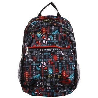 Skechers SK21331-SC-MU Crosswordz 17.75-inch Kid's Backpack