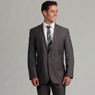Kenneth Cole Reaction Men's Grey Striped 2-piece Suit FINAL SALE