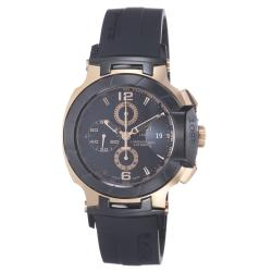Tissot Men's T048.427.27.057.01 'T Race' Black Dial Rose Goldtone Chronograph Watch