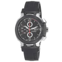 Tissot Men's 'T Race' Black Dial Rubber Strap Chronograph Watch