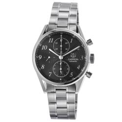 Tag Heuer Men's CAS2110.BA0730 'Carrera' Black Dial Stainless Steel Chronograph Watch