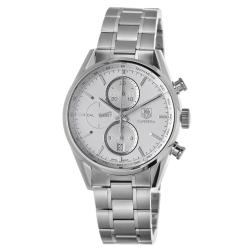 Tag Heuer Men's CAR2111.BA0720 'Carrera' Silver Dial Stainless Steel Automatic Watch
