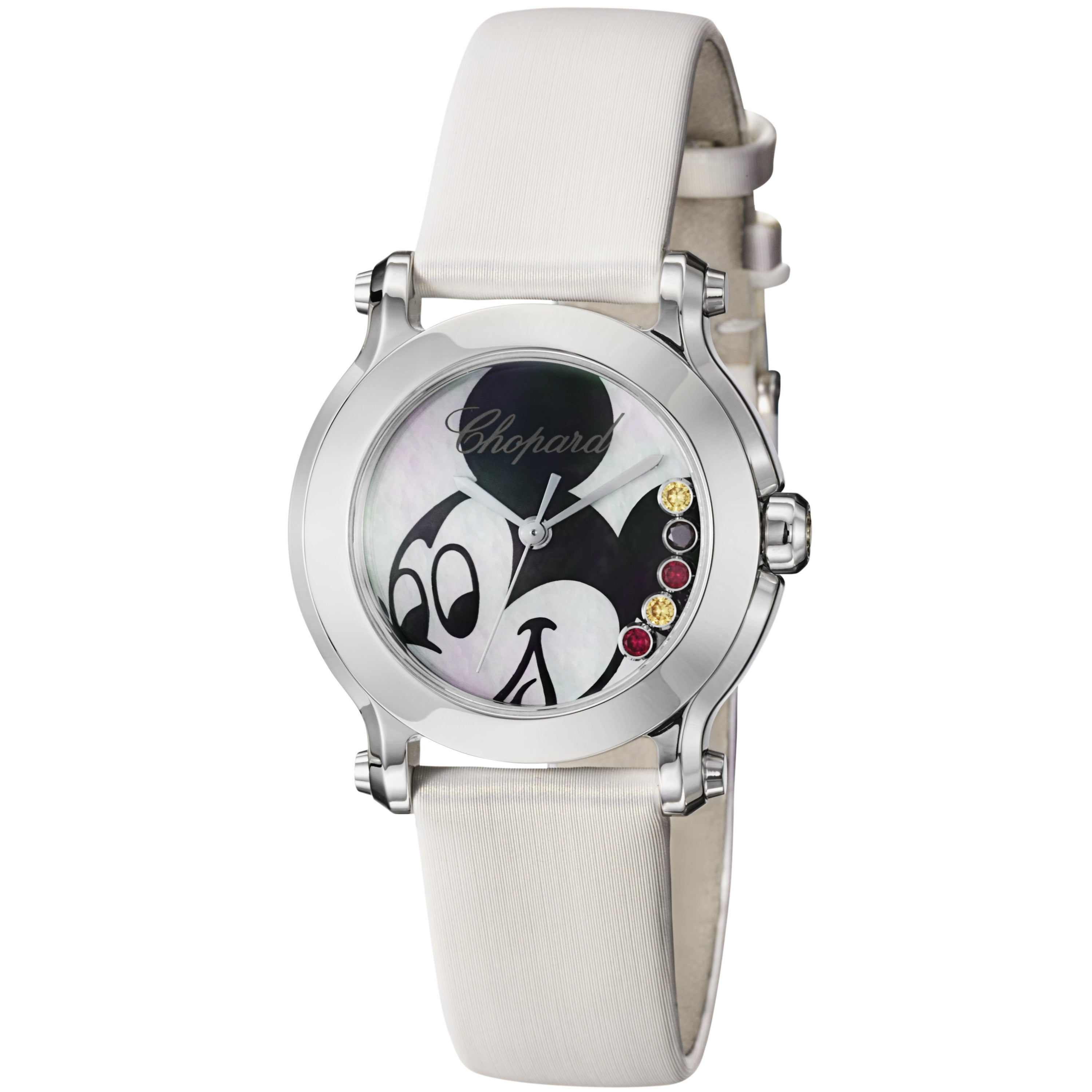 Chopard Women's 278509-3045 'Happy Sport Round' Mickey Mouse Dial Quartz Watch