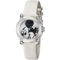 Chopard Women's 'Happy Sport Round' Mickey Mouse Dial Quartz Watch