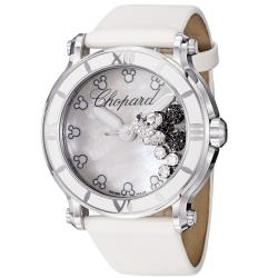 Chopard Women's 288524-3004 LWH 'Happy Sport Round' Mickey Mouse Diamond Watch