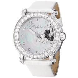 Chopard Women's 288524-3005 LWH 'Happy Sport Round' Mickey Mouse Diamond Watch
