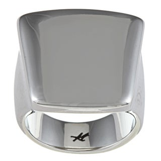 Kenneth Cole Silvertone Square Ring