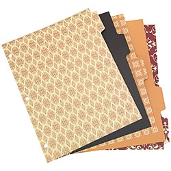 Wilson Jones WorkStyle Cut and Sewn 3-Hole Punched 5 Tab Dividers (Pack of 60)