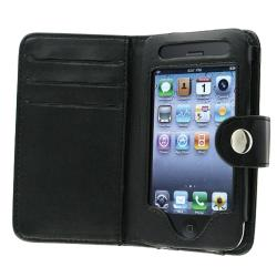 INSTEN Black Leather Phone Case Cover for Apple iPhone 3G/ 3GS