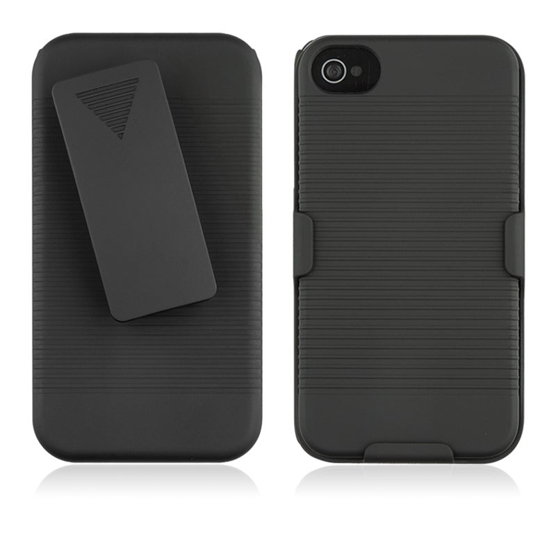 INSTEN Black Swivel Holster with Stand for Apple iPhone 4/ 4S