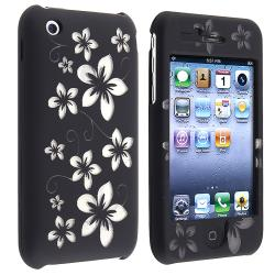 BasAcc Laser Black Hawaii Snap-on Case for Apple iPhone 3G/ 3GS