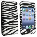 BasAcc White/ Black Zebra Snap-on Case for Apple iPhone 3G/ 3GS