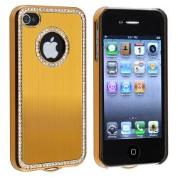 BasAcc Bling Luxury Gold Snap-on Case for Apple iPhone 4/ 4S