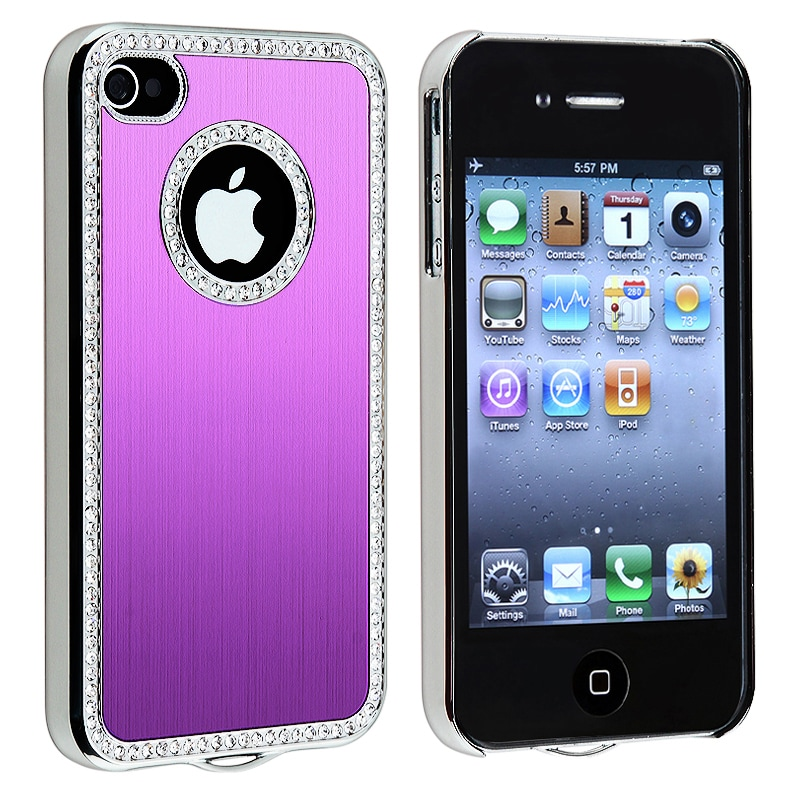BasAcc Bling Luxury Purple Snap-on Case for Apple iPhone 4/ 4S