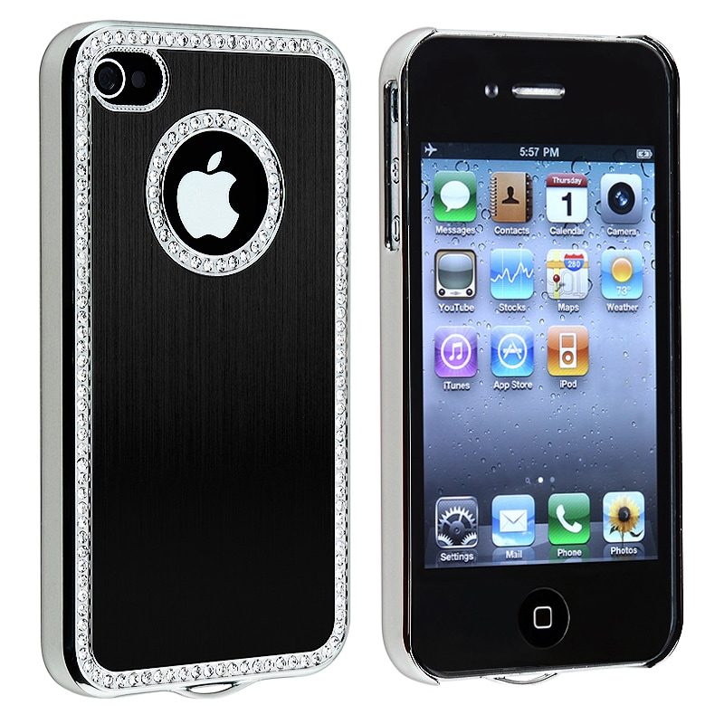 BasAcc Bling Luxury Black Snap-on Case for Apple iPhone 4/ 4S