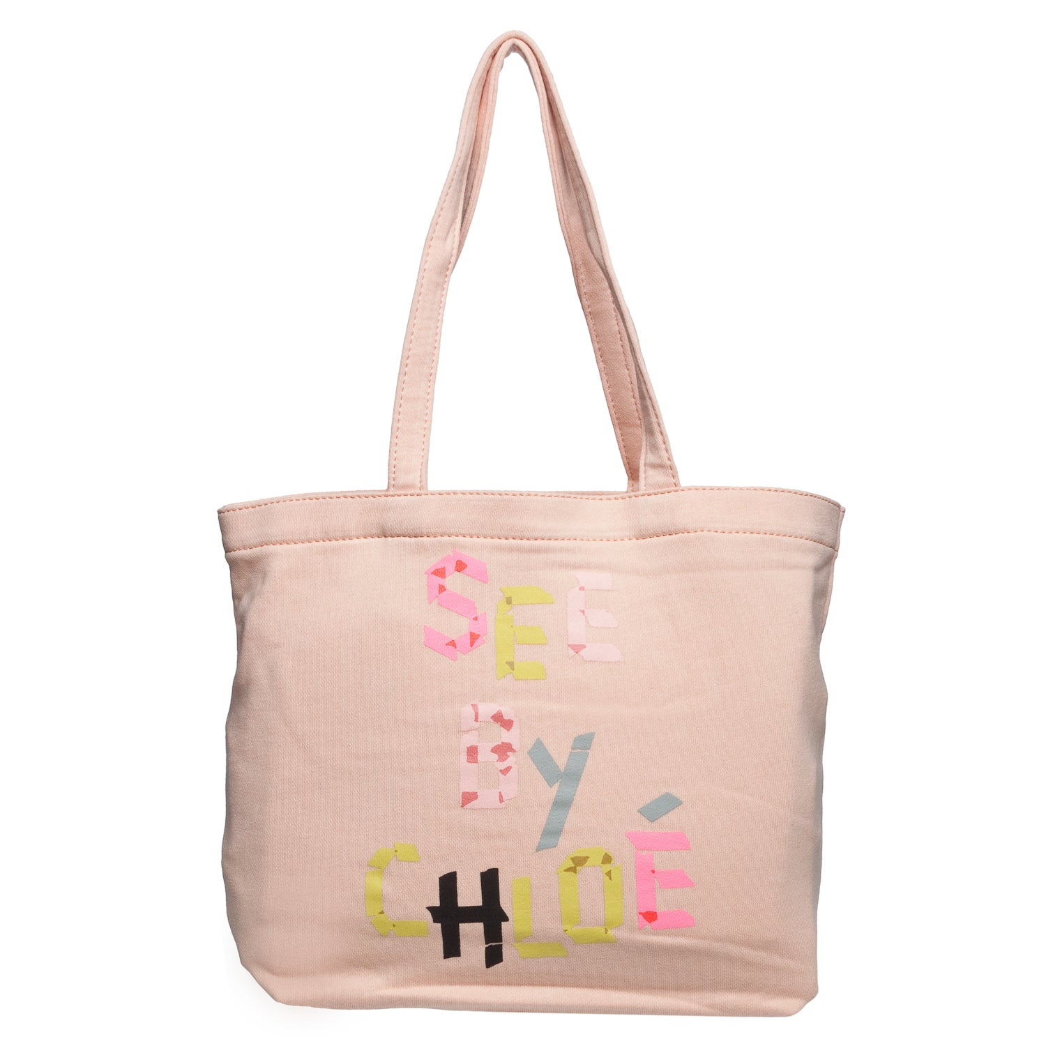 See by Chloe Peach Canvas Tote