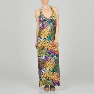 LA Gold Women's Allover Floral Maxi Dress