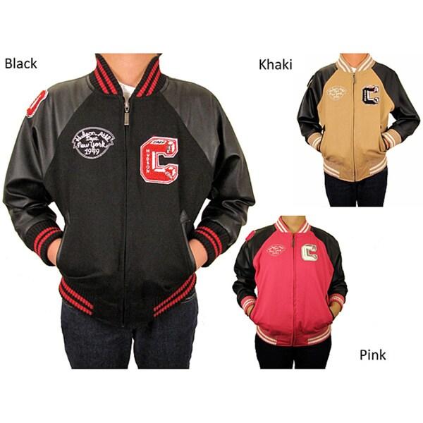 Hudson Outerwear Children's Cotton Twill Lined Varsity Jacket