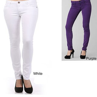 Tabeez Women's Plus-size Color Stretch Jeans