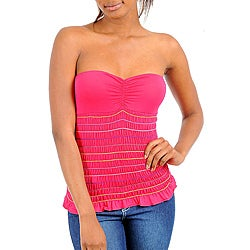 Stanzino Women's Fuchsia Stretch Tube Top
