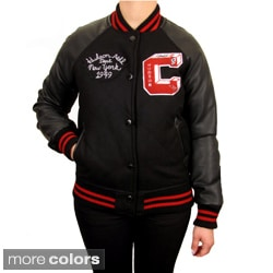 Hudson Outerwear Women's Plus-size Wool Varsity Jacket