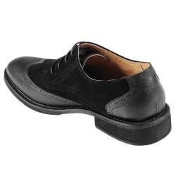 Boston Traveler Men's Topstitched Sueded Lace-up Oxfords