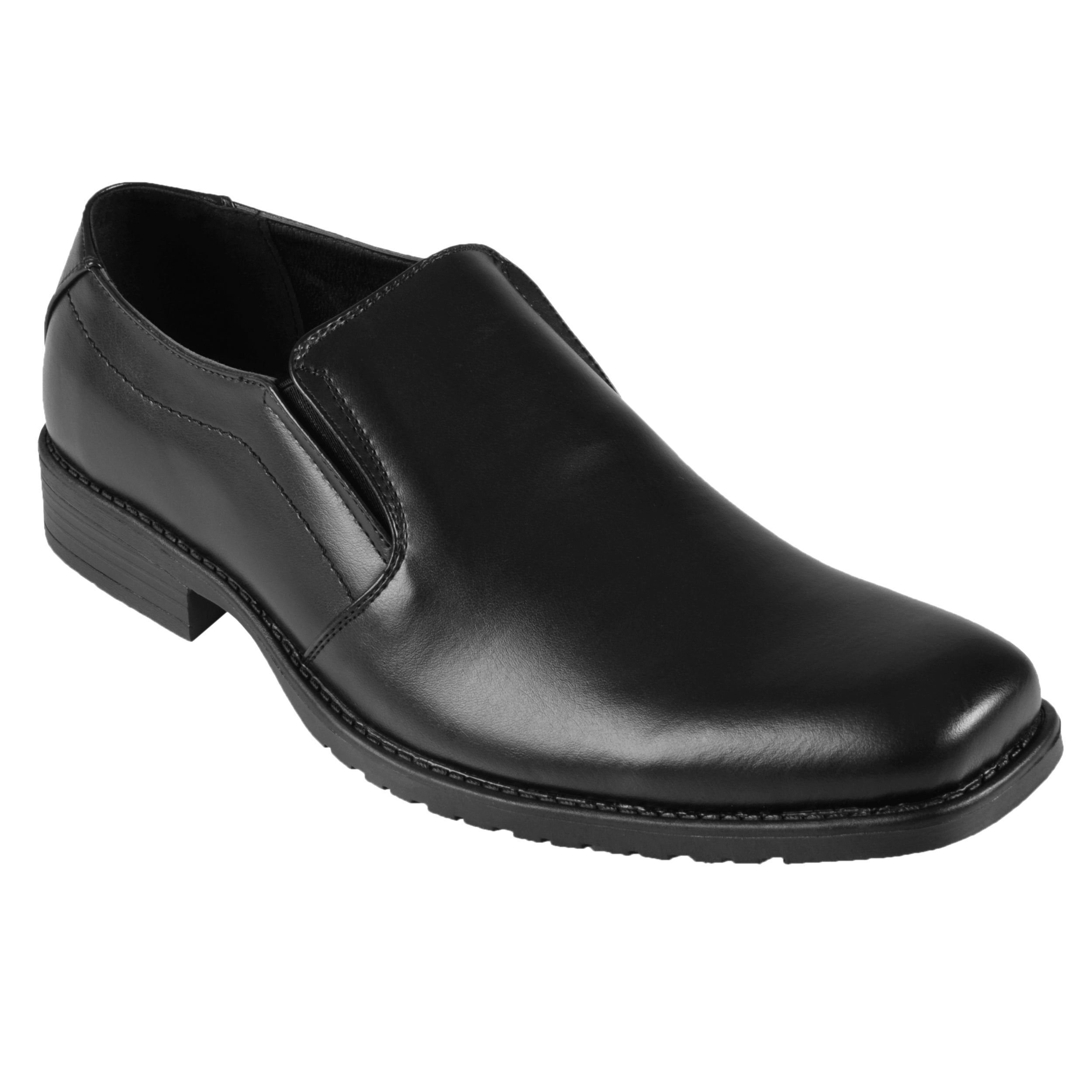 Oxford & Finch Men's Topstitched Leather Slip-on Loafers