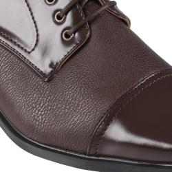Boston Traveler Men's Topstitched Square Toe Faux Leather Oxfords