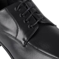 Boston Traveler Men's Topstitched Faux Leather Oxfords