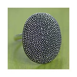 Sterling Silver Cocktail Ring 'Dazzle' (Indonesia)