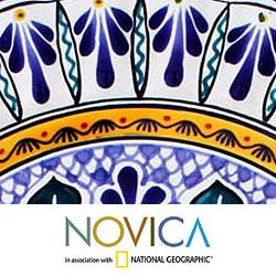 Handcrafted Talavera Ceramic 'Grand Duchess' Serving Plate (Mexico)