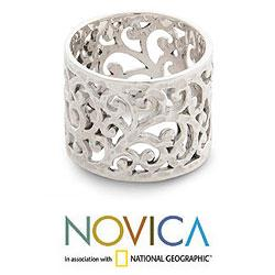 Sterling Silver 'Exotic Bali' Band Ring (Indonesia)