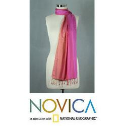 Handcrafted Silk 'Indian Rainbow' Scarf (India)